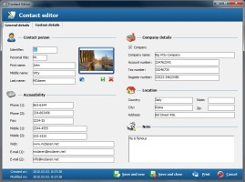 Contact editor - edit contacts datas and attach photo