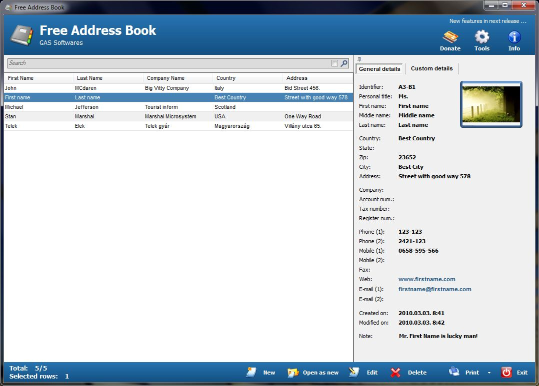 download free address book wallpaper changer