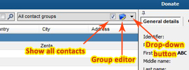 How to use contact groups